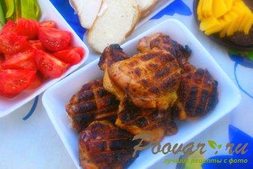 Куриные бёдра с томатным соусом на решётке-гриль Шаг 10 (картинка)