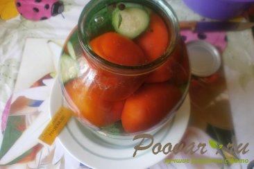 Огурцы и помидоры в кетчупе чили на зиму Шаг 7 (картинка)