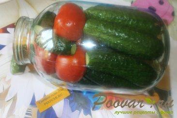 Огурцы и помидоры в кетчупе чили на зиму Шаг 6 (картинка)