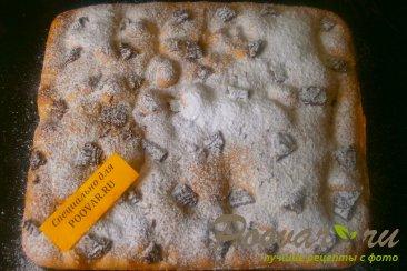 Шарлотка с нектарином и шоколадным печеньем Шаг 12 (картинка)