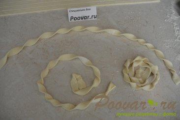 Печенье из слоёного теста с творогом и ягодами Шаг 6 (картинка)