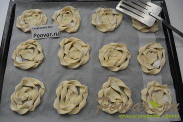 Печенье из слоёного теста с творогом и ягодами Шаг 12 (картинка)