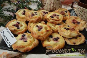 Печенье из слоёного теста с творогом и ягодами Шаг 18 (картинка)