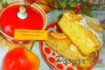 Манник на сметане с яблоками Изображение