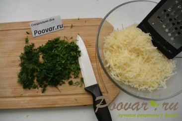 Лепёшки на кефире с сыром и укропом Шаг 7 (картинка)