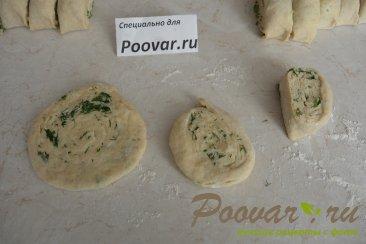 Лепёшки на кефире с сыром и укропом Шаг 13 (картинка)