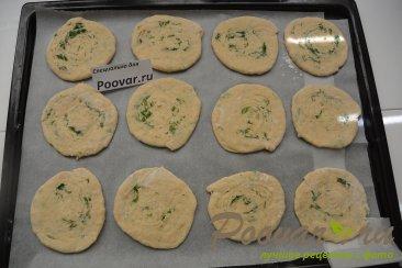 Лепёшки на кефире с сыром и укропом Шаг 14 (картинка)