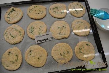 Лепёшки на кефире с сыром и укропом Шаг 15 (картинка)