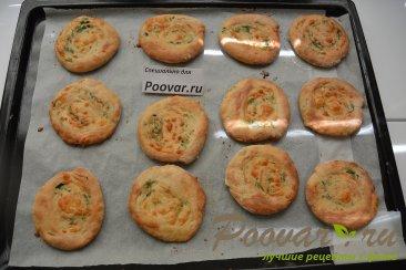 Лепёшки на кефире с сыром и укропом Шаг 16 (картинка)
