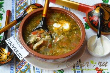 Куриный суп с клецками Изображение