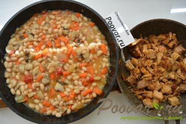 Фасоль с мясом и грибами Шаг 6 (картинка)