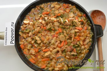 Фасоль с мясом и грибами Шаг 8 (картинка)