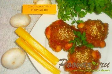 Мясные кексы с грибами и сыром Изображение