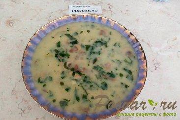 Грибной суп с плавленым сыром Изображение