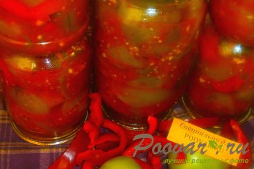 Зелёные помидоры в заливке на зиму Изображение