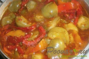 Зелёные помидоры в заливке на зиму Шаг 8 (картинка)