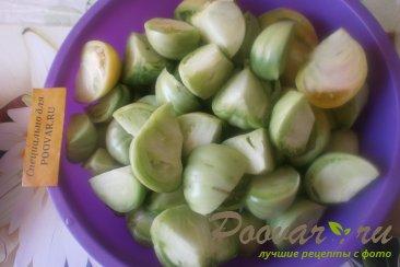 Салат из зелёных помидоров с овощами на зиму Шаг 2 (картинка)