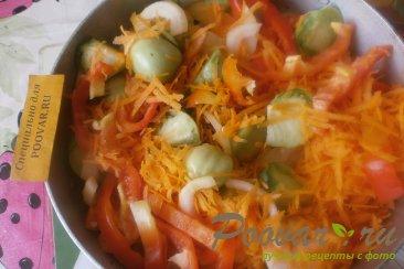 Салат из зелёных помидоров с овощами на зиму Шаг 6 (картинка)