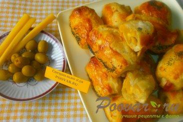 Рулетики с сыром и оливками Изображение