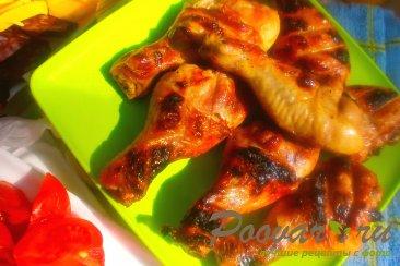 Куриные ножки в горчично-медовом маринаде на решётке Изображение