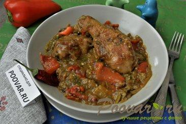 Запеченные овощи с курицей Изображение