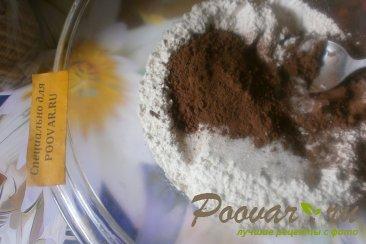 Шоколадное печенье с яблоками и карамелью Шаг 1 (картинка)
