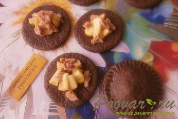 Шоколадное печенье с яблоками и карамелью Шаг 10 (картинка)