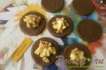 Шоколадное печенье с яблоками и карамелью Шаг 9 (картинка)