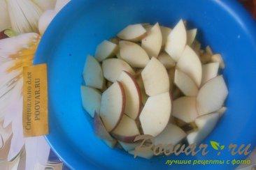 Тыква с яблоками, виноградом и сливами Шаг 2 (картинка)