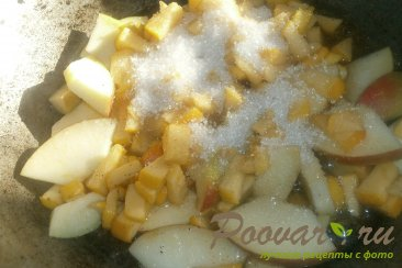 Тыква с яблоками, виноградом и сливами Шаг 3 (картинка)