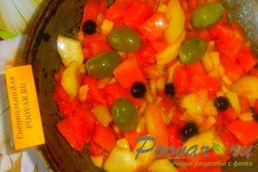 Тыква с яблоками, виноградом и сливами Шаг 7 (картинка)