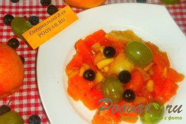 Тыква с яблоками, виноградом и сливами Шаг 8 (картинка)