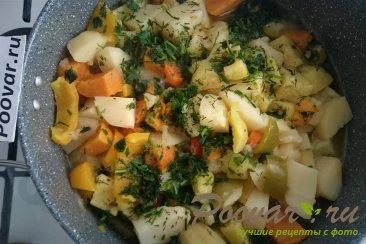 Овощное рагу с картофелем и бататом Изображение