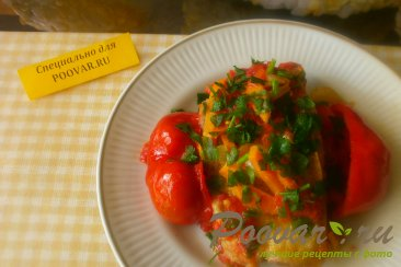Толстолобик с овощами в томате Изображение