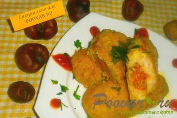 Зразы куриные с кабачками Изображение