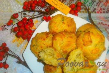 Заварные булочки с сыром и зеленью Изображение