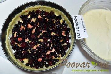 Пирог с творогом, ягодами и кокосовой стружкой Шаг 15 (картинка)