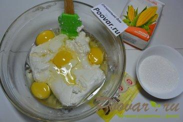 Пирог с творогом, ягодами и кокосовой стружкой Шаг 8 (картинка)
