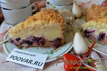 Пирог с творогом, ягодами и кокосовой стружкой Изображение