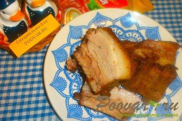 Свиные рёбрышки с чесноком в духовке Изображение