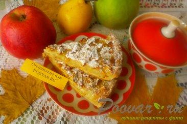 Пирог яблочный из песочного теста Изображение