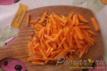 Салат из куриных пупков с овощами Шаг 5 (картинка)