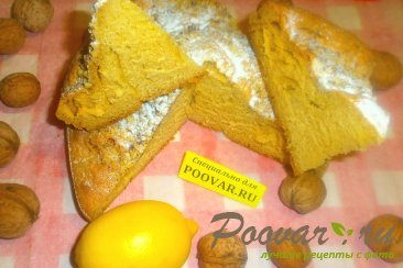 Лимонный пирог с орехами Изображение