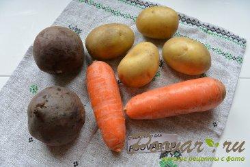 Селёдка под шубой из запечённых овощей Шаг 1 (картинка)