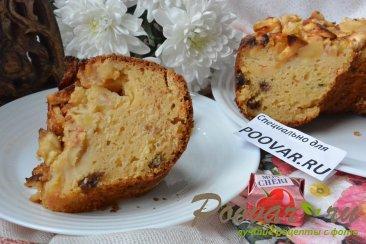 Творожный кекс с яблоками на соке Изображение