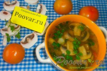 Грибной суп с шампиньонами Изображение