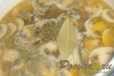 Грибной суп с шампиньонами Шаг 13 (картинка)