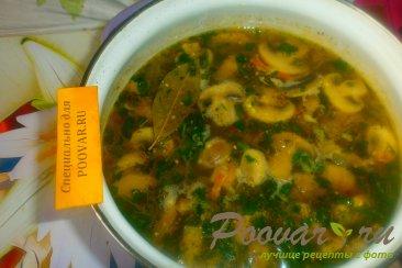 Грибной суп с шампиньонами Шаг 15 (картинка)