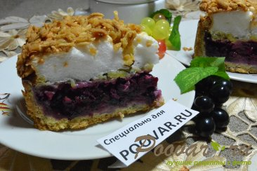 Песочный торт с ягодами и безе Шаг 19 (картинка)