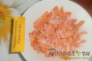 Куриная печень с сердечками и овощами на сковороде Шаг 7 (картинка)